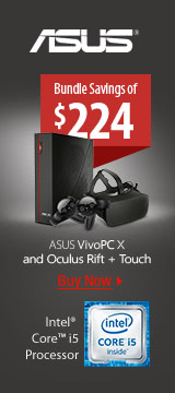 ASUS VivoPC X and Oculus Rift + Touch