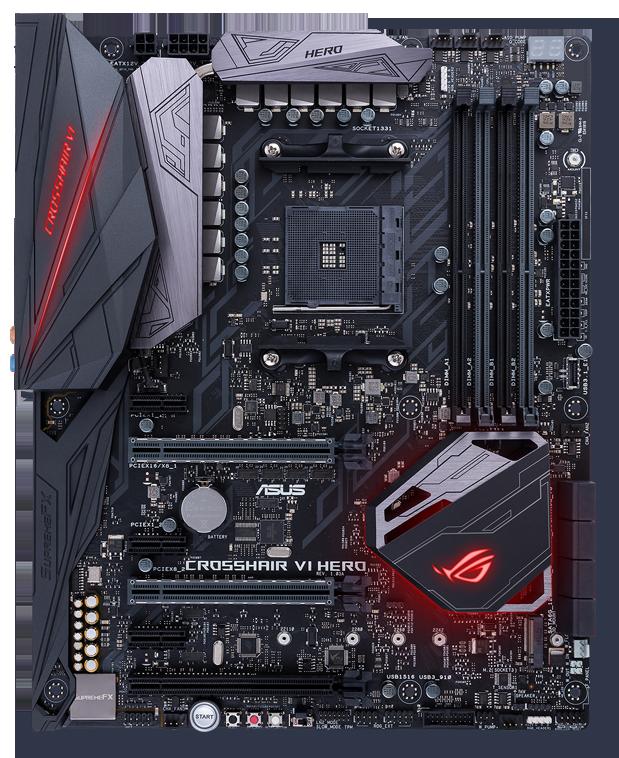 ASUS ROG Crosshair VI Hero AM4 AMD X370 SATA 6Gb/s USB 3 1