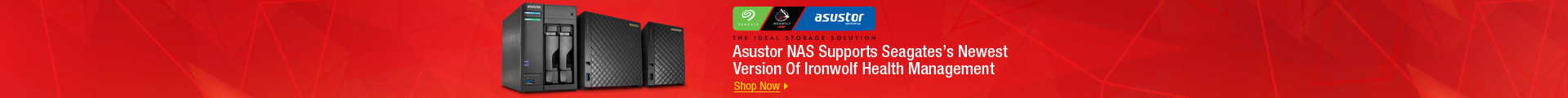 Asustor NAS Supports Seagates's Newest Version Of Ironwolf Health Management