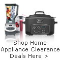 Home appliance clearance deals