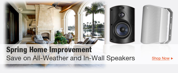 Save on All-Weather & In-Wall Speakers