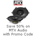 Save 50% on MTX Audio with promo code