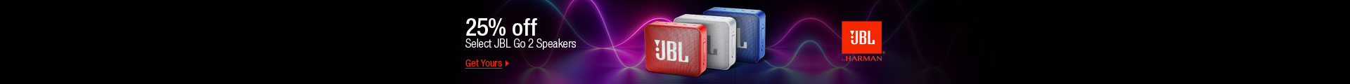 25% off JBL GO 2 Speakers