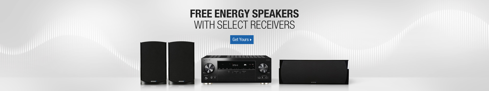 Free energy speakers with select receivers
