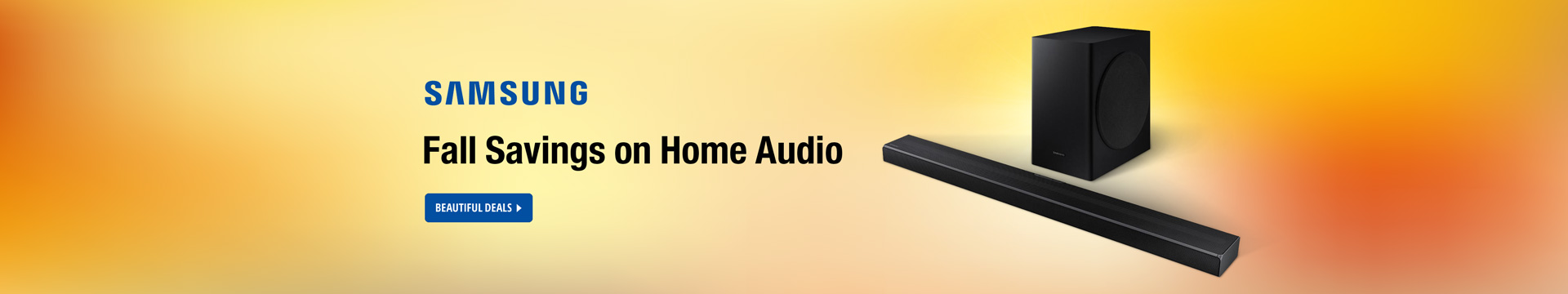 Samsung Fall Savings on Home Audio
