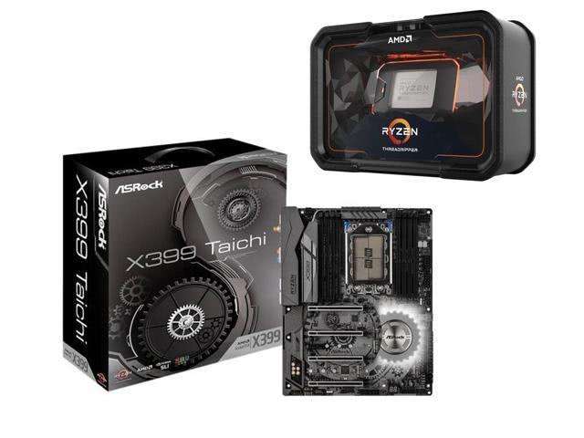 CPU AMD RYZEN TR 2990WX 3.0G 64M R, ASRock X399 Taichi sTR4 AMD X399 SATA 6Gb/s USB 3.1 ATX AMD Motherboard