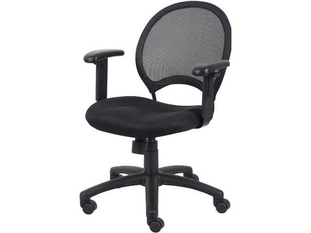 Boss B6216 Mesh Chair with Adjustable Arms