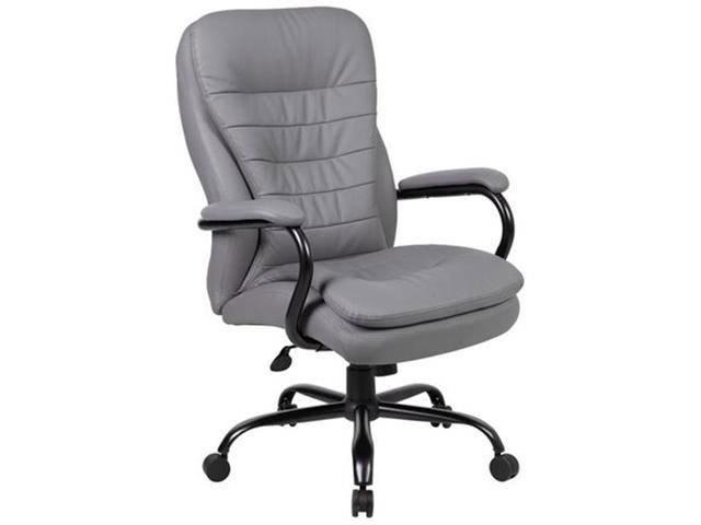 Boss B991-GY Heavy Duty Double Plush CaressoftPlus Chair