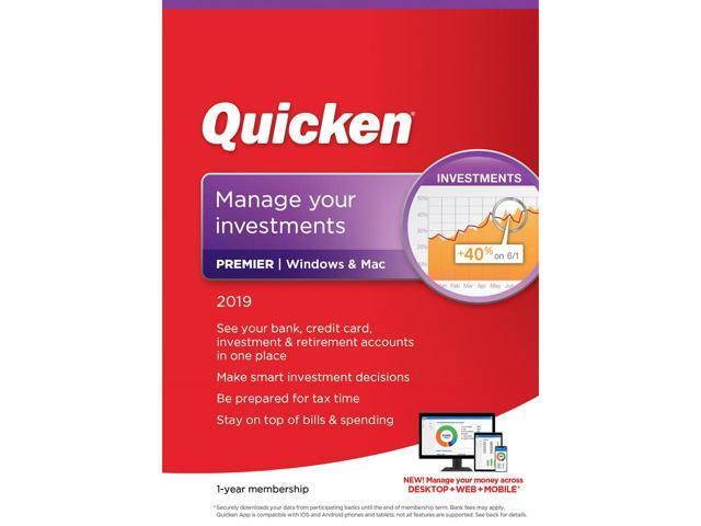 Quicken Premier 2019 - Windows/Mac - 1 Year