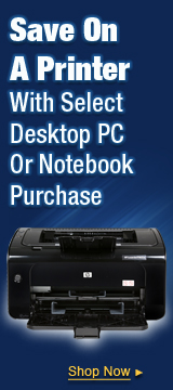Save On A Printer With Select Desktop PC Or Notebook Purchase