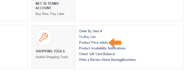 Price Alerts: Updating an Alert - Step 2