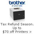 Tax refund season. Up to $70 off printers