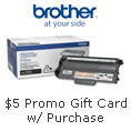 $5 promo gift card w/ purchase