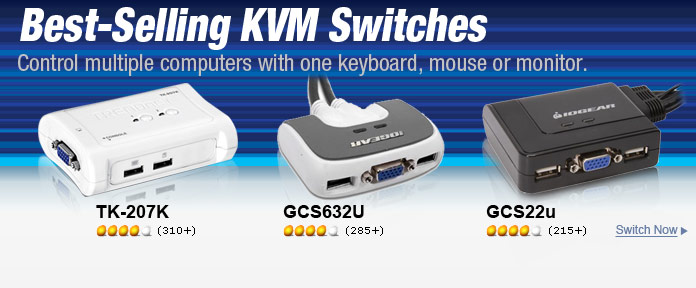 Best-Selling KVM Switches
