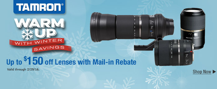 Up to $150 off Lenses with Mail-in Rebate