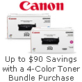 Up to $90 Savings with a 4-Color Toner Bundle Purchase