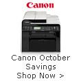 Canon October savings shop now