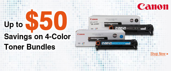 Up to $50 savings on 4-color toner bundles