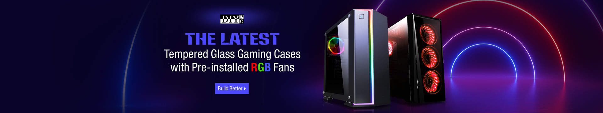 DIYPC Latest Temp Glass Gaming Cases