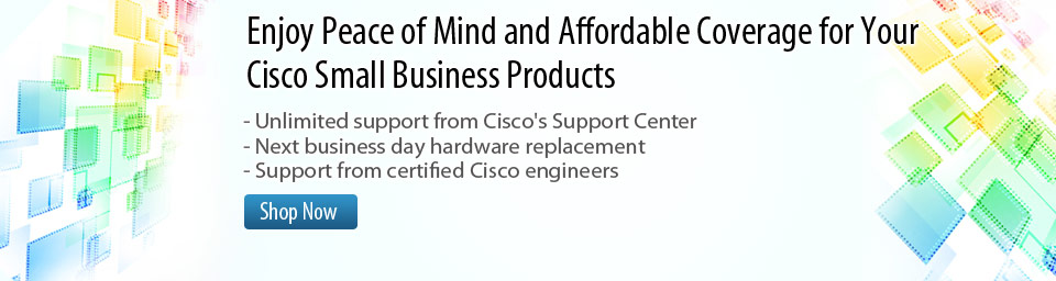 Enjoy peace of mind and affordable coverage for your Cisco small business products