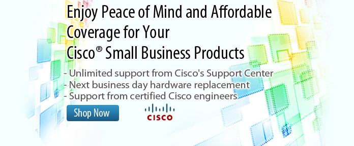 Enjoy Peace of Mind and Affordable Coverage for Your Cisco Small Business Product