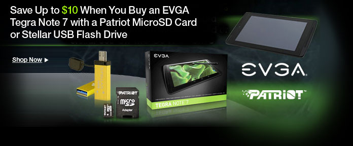 Save Up to $10 with EVGA Tegra Note 7 Combos