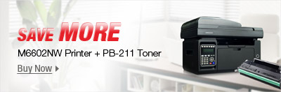SAVE MORE: M6602NW Printer + PB-211 Toner