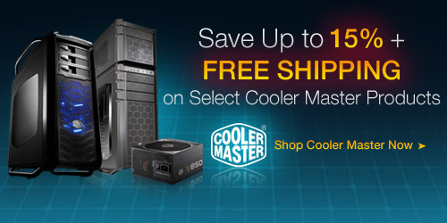 Save Up to 15% + Free Shipping on All Cooler Master Products
