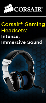 CORSAIR gaming headsets, intense, immersive sound