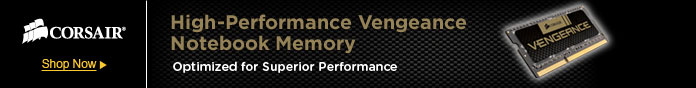 High-Performance Vengeance Notebook Memory