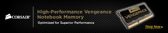 High-Performance Vengeance Notebook Memory