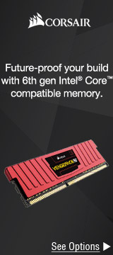 Future-proof your build with 6th gen Intel® Core™ compatible memory