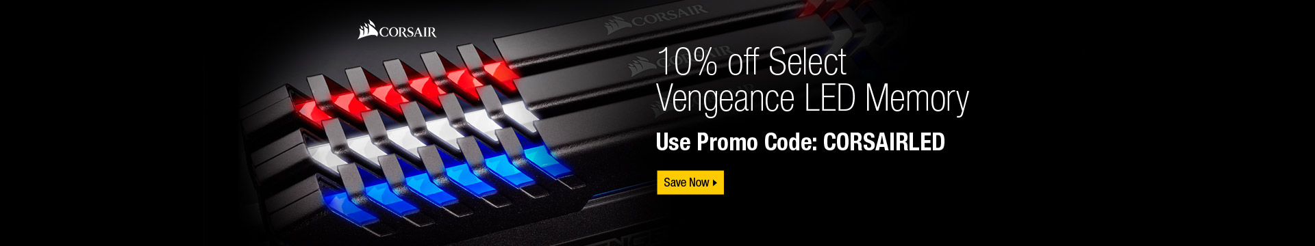 10% off Vengeance LED Memory Below