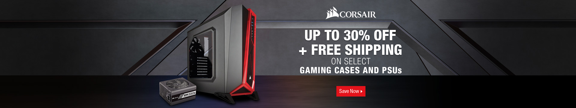 Up to 30% off + Free Shipping on Select Gaming Cases and PSUs