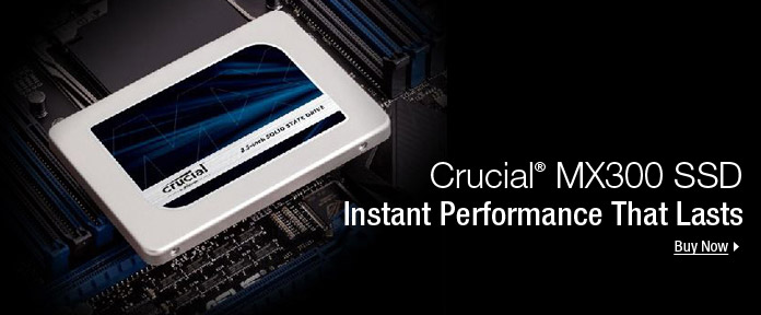 Crucial MX300 SSD Instant Performance That Lasts