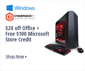 $20 off office + free $100 Microsoft store credit