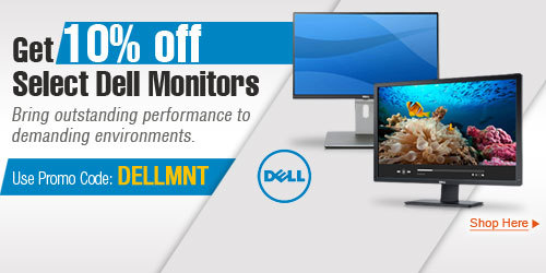 Get 10% off Select Dell Monitors