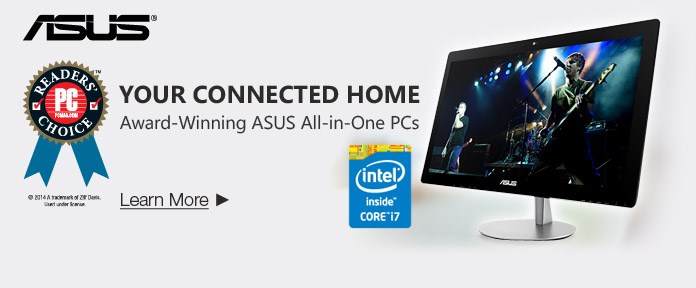 Your Connected Home Award-Winning ASUS All-in-One PCs