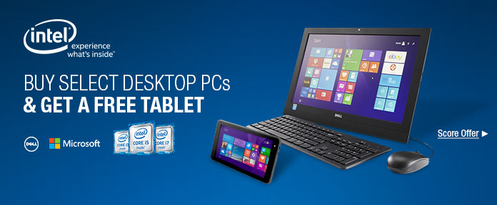 Buy Select Desktop PCs & Get a Free Tablet