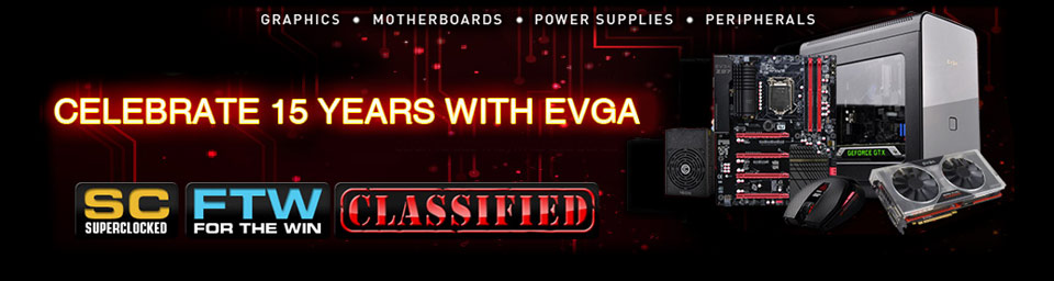 Celebrate 15 Years With Evga