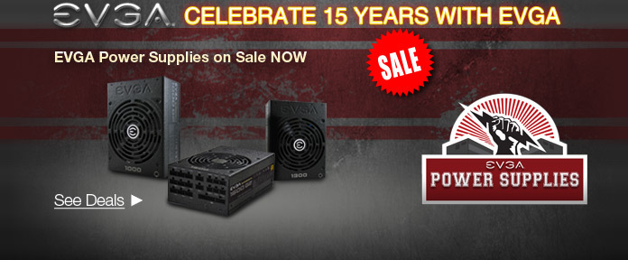 Celebrate 15 Years with EVGA See Deals
