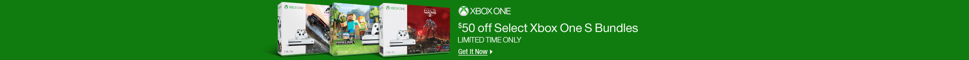 $50 off Select Xbox One Bundles