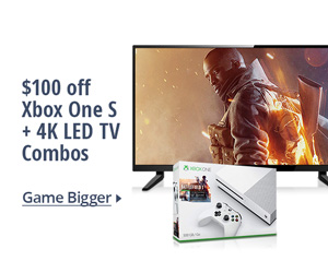 $100 off Xbox one S + 4K LED TV combos