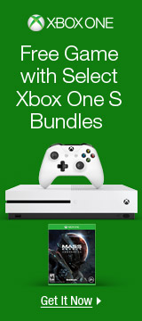 Free game with select Xbox one S bundles