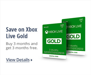Save on Xbox Live Gold