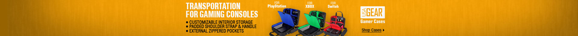 Transportation for gaming consoles