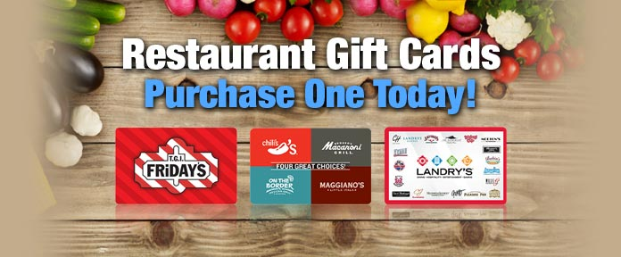 Restaurant Gift Cards Purchase One Today