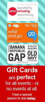 Gift Cards Are Perfect For All Events