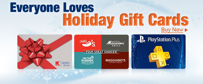 Everyone loves Holiday Gift Cards
