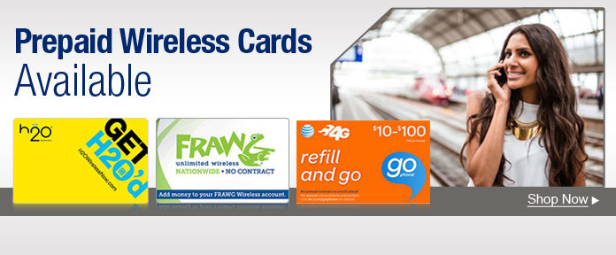 Prepaid wireless cards